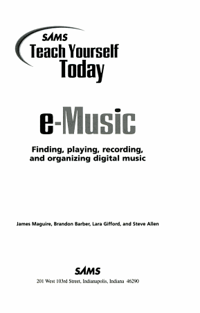Sams Teach Yourself Today E music PDF
