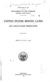 United States Mining Laws and Regulations Thereunder
