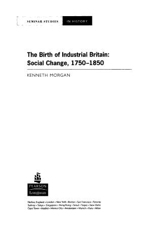 The Birth of Industrial Britain PDF