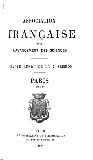Congr  s de l Association fran  aise pour l avancement des sciences PDF