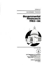 Governmental finances in ...
