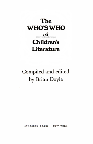 The Who's who of Children's Literature