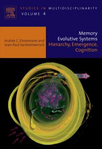 Memory Evolutive Systems  Hierarchy  Emergence  Cognition