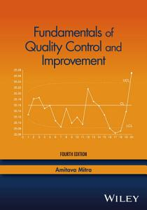 Fundamentals of Quality Control and Improvement PDF