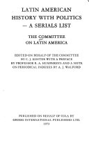 Latin American History with Politics a Serials List PDF