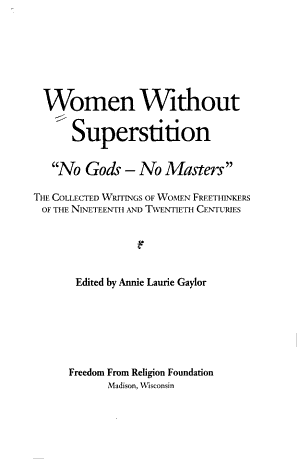 Women Without Superstition