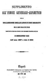 Collezione delle leggi e decreti emanati nelle provincie continentali dell'Italia meridionale