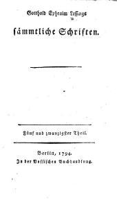 Gotthold Ephraim Lessings vermischte Schriften: Bände 25-26
