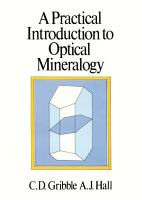 A Practical Introduction to Optical Mineralogy PDF