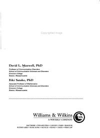 Research and Statistical Methods in Communication Disorders