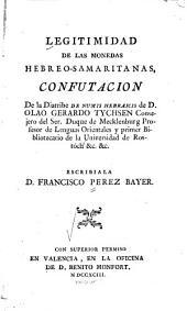 Legitimidad de las monedas hebreo-samaritanas: confutación de la Diatribe