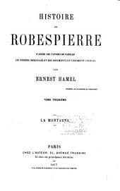 Histoire de Robespierre d'après des papiers de famille: La Montagne. 1867