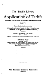 Application of tariffs within and from the official and Canadian classification territories