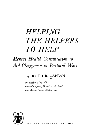 Helping the Helpers to Help PDF
