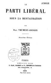 Le parti libéral sous la Restauration
