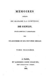 Mémoires inédits de madame la comtesse de Genlis: pour servir à l'histoire des dix-huitième et dix-neuvième siècles, Volume2