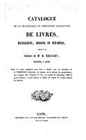 Catalogue de la magnifique     collection de livres  manuscrits  dessins et estampes  formant le cabinet de Mr R  Brisart  etc PDF