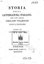 Storia della letteratura italiana del cav. abate Girolamo Tiraboschi ... Tomo 1. [-9.]: 9: Indice generale di tutta l'opera