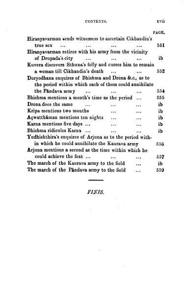 The Mahabharata Of Krishna Dwaipayana Vyasa Translated Into English Prose Drona Parva 2nd Ed 1892