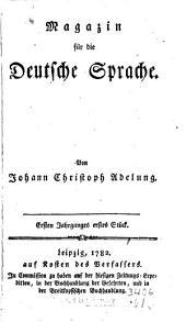 Magazin für die deutsche Sprache: Band 1