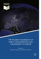 The Palgrave Handbook of Public Administration and Management in Europe PDF