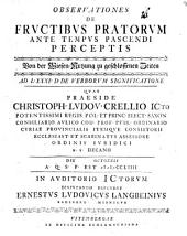 Observationes De Frvctibvs Pratorvm Ante Tempvs Pascendi Perceptis: Ad L. XXXI. D. De Verborvm Significatione