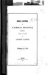 Dodici lettere di Carlo Botta