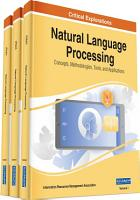 Natural Language Processing  Concepts  Methodologies  Tools  and Applications PDF
