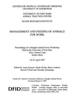 Management and Feeding of Animals for Work PDF