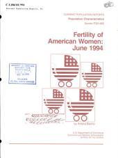 Fertility of American women: Issue 482