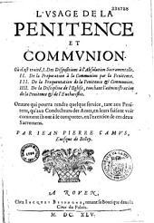 L'usage de la pénitence et communion