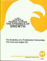 The evolution of a problematic partnership   the feds and higher education  PDF