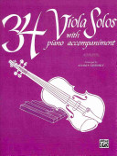 34 Viola Solos: With Piano Acc.