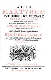 Acta primorum Martyrum sincera