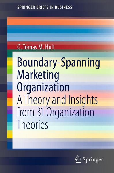 Boundary Spanning Marketing Organization PDF