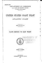 United States Coast Pilot, Atlantic Coast: Section D. Cape Henry to Key West