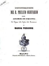 Notificazione del r. prelato ordinario di Altamura ed Acquaviva sul digiuno della vigilia della presentazione di Maria Vergine