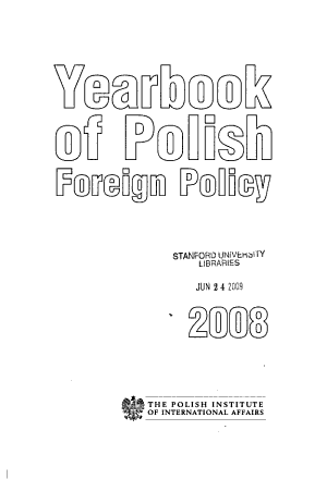 Yearbook of Polish Foreign Policy PDF