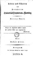 Leben und Thaten des Feyherrn Quinctius Heymeran v  Flaming  Von Gustav Freier  pseud   PDF