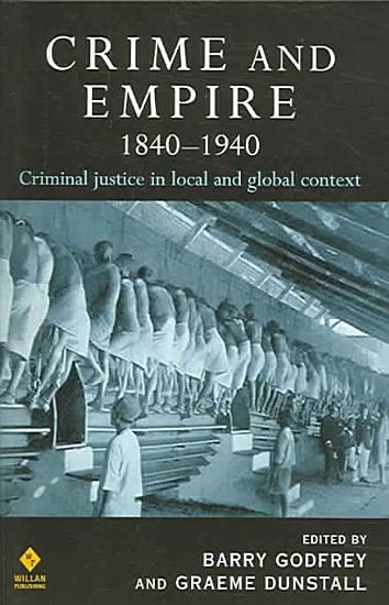 Crime and Empire  1840 1940 PDF