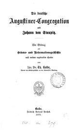 Die deutsche Augustiner-Congregation und Johann von Staupitz