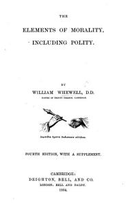 The Elements of Morality  including Polity