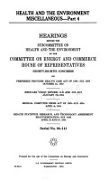 Health and the Environment Miscellaneous PDF