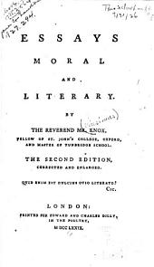 Essays Moral and Literary: Volume 1