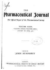 Pharmaceutical Journal: Volume 80