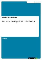Karl Marx, Das Kapital, Bd. 1 - Ein Exzerpt