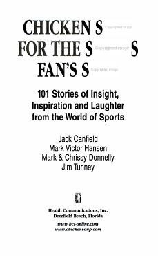 Chicken Soup for the Sports Fan s Soul PDF