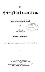 Die Schriftinspiration PDF