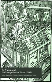 Le triumphe de haulte et puissante dame Vérolle et le pourpoint fermant à boutons