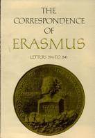 The Correspondence of Erasmus PDF